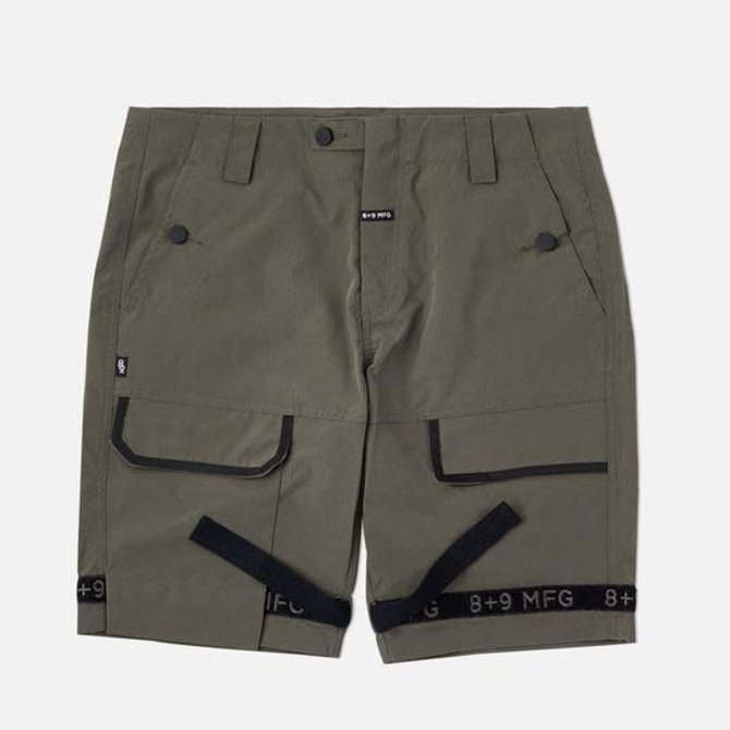 8&9 Strapped Up Shorts Rip Stop Olive