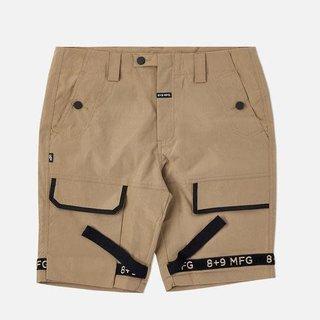 8&9 Strapped Up Shorts Rip Stop Khaki