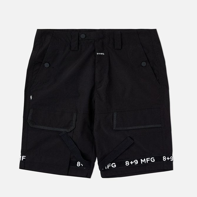 8&9 Strapped Up Shorts Rip Stop Black OG