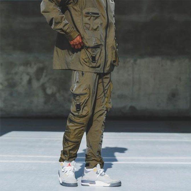 8&9 Combat Nylon Pant Iridescent Golden Army