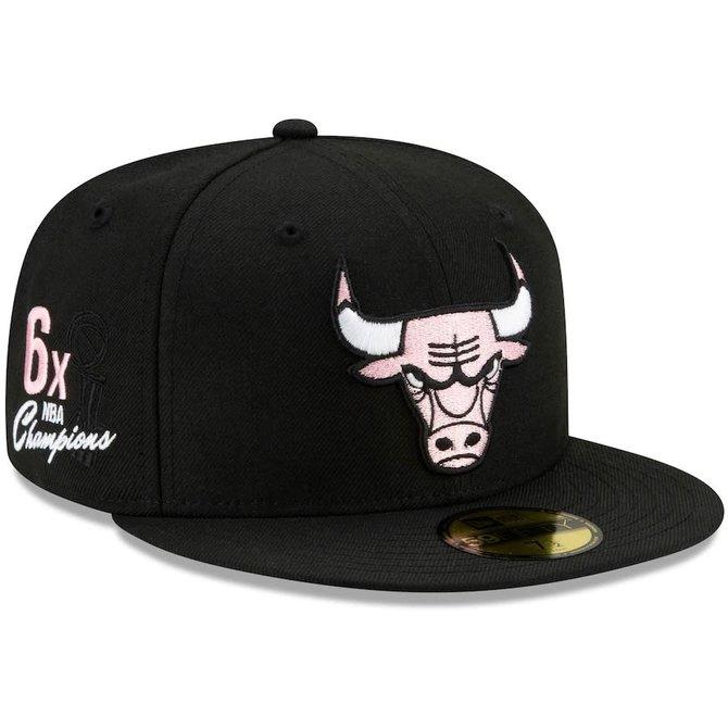 New Era Chicago Bulls 6x Champs 9Fifty Pink Brim