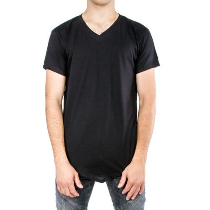 Entity V-Neck Long V-Hem S/S Shirt