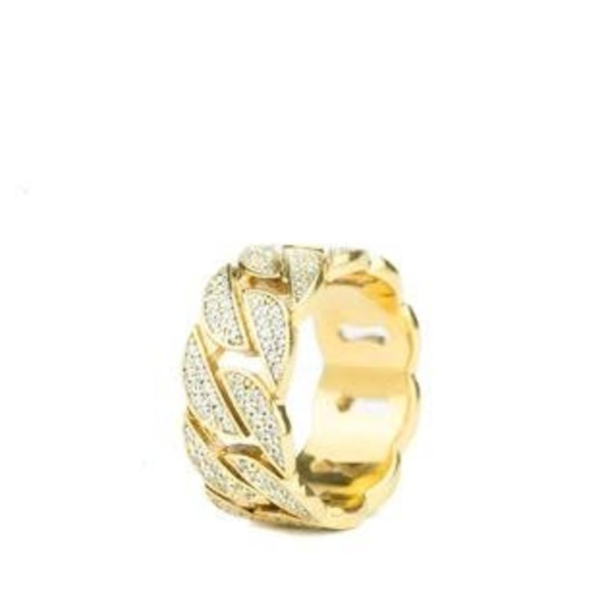 The Gold Gods GoldGods Diamond Cuban Ring Gold
