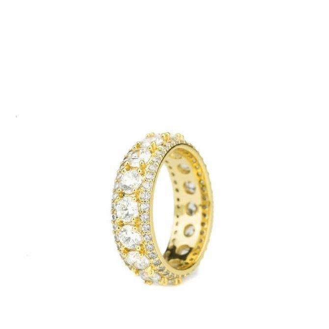 The Gold Gods Goldgods King Diamond Ring Gold