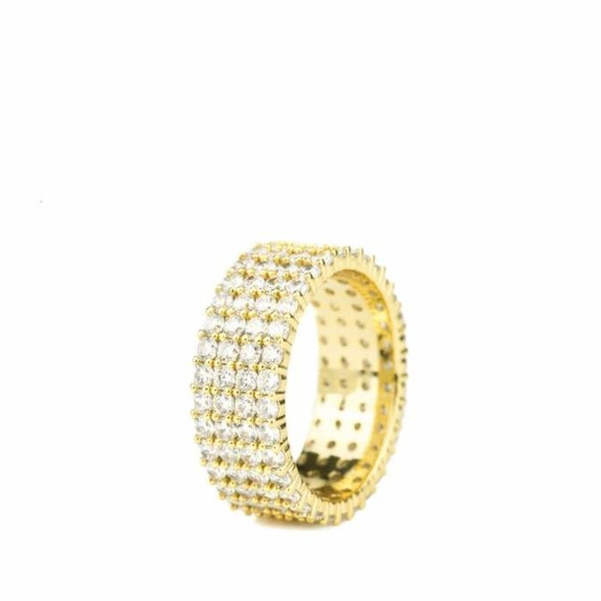 The Gold Gods Goldgods 4 Row Eternity Ring Gold 9