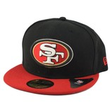 New Era SF 49ers 59Fifty Blk/Red Brim