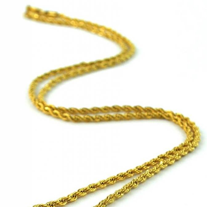 The Gold Gods GoldGods 28in Rope Chain 2.5mm Gold