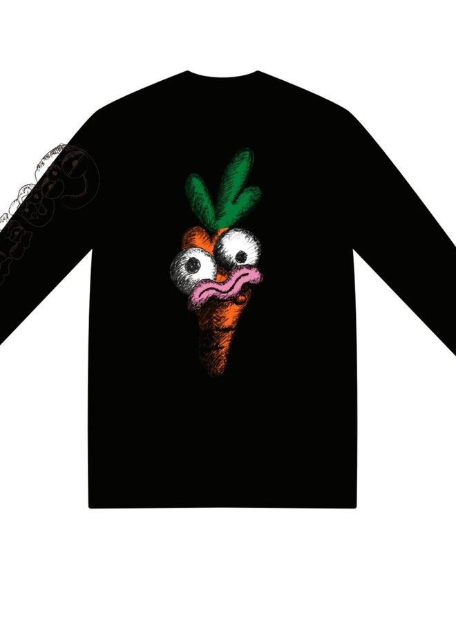 Carrots Face LS (Black)