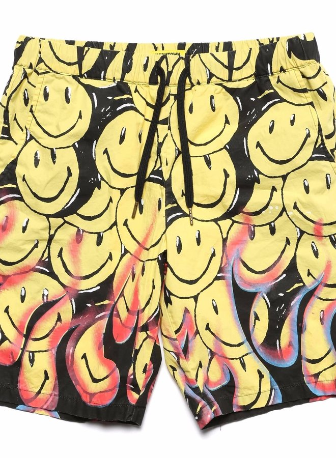 Smiley Flames Shorts