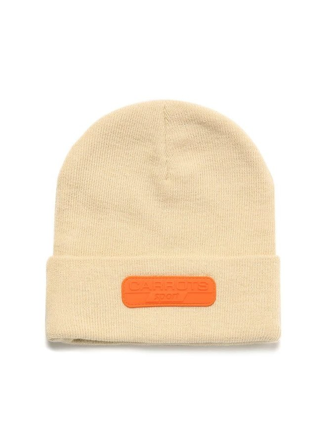 SPORT RUBBER PATCH BEANIE IVORY