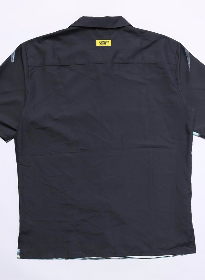 NYC SS BUTTON UP BLACK