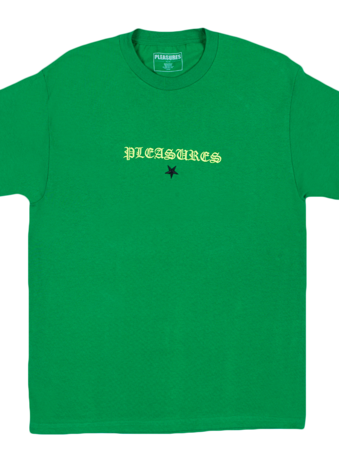 KELLY GREEN SHINE EMBROIDERED T-SHIRT