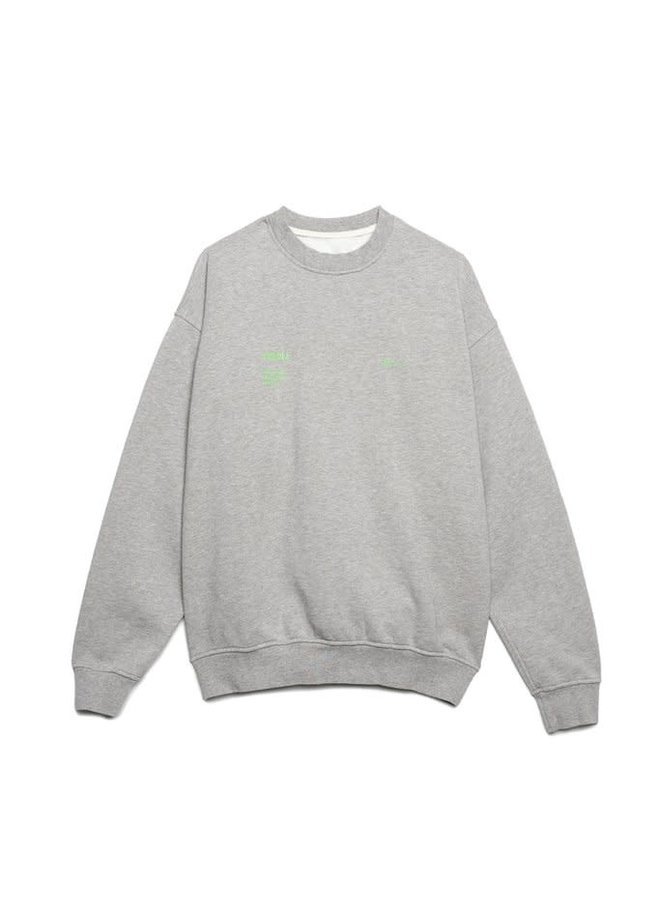 HEATHER GREY AFTER THE FIRE CREWNECK