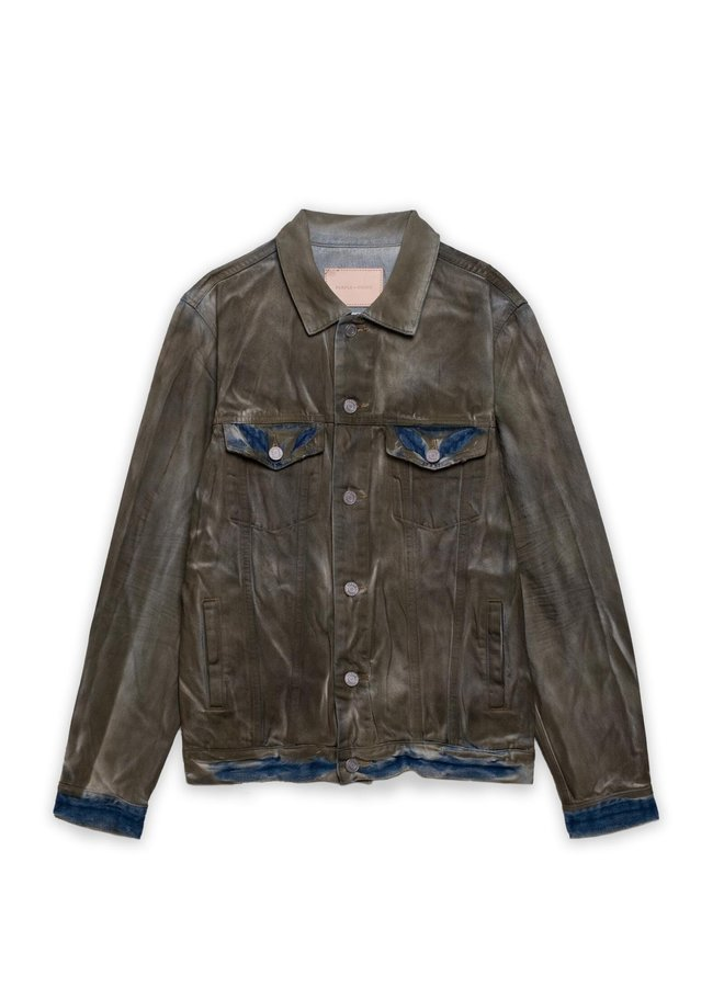 SUPER DIRTY RESIN DENIM JACKET