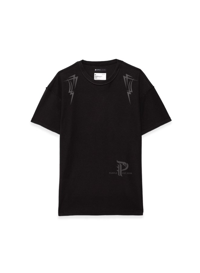 PYRAMID BLACK RELAXED TEE