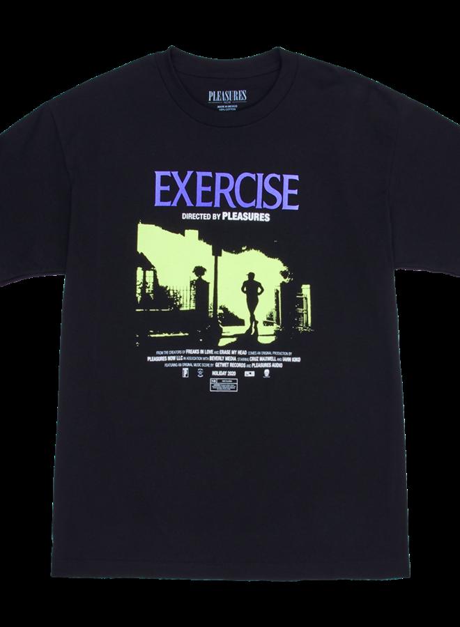 BLACK EXERCISE T-SHIRT