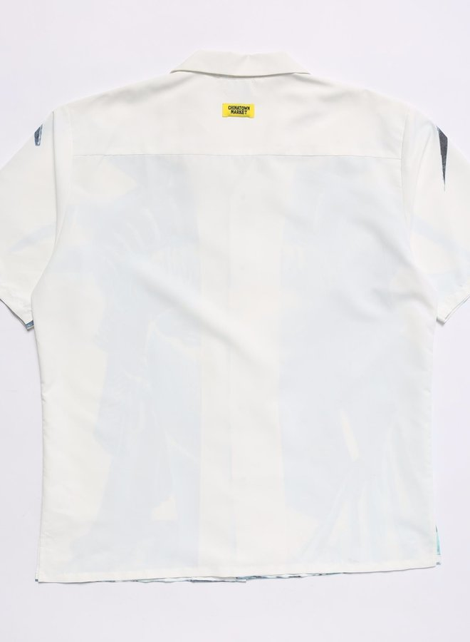 NYC SS BUTTON UP WHITE