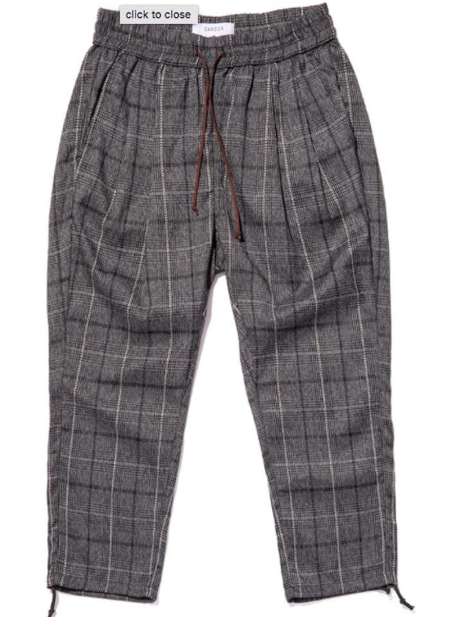 Plaid Drawcord Pants
