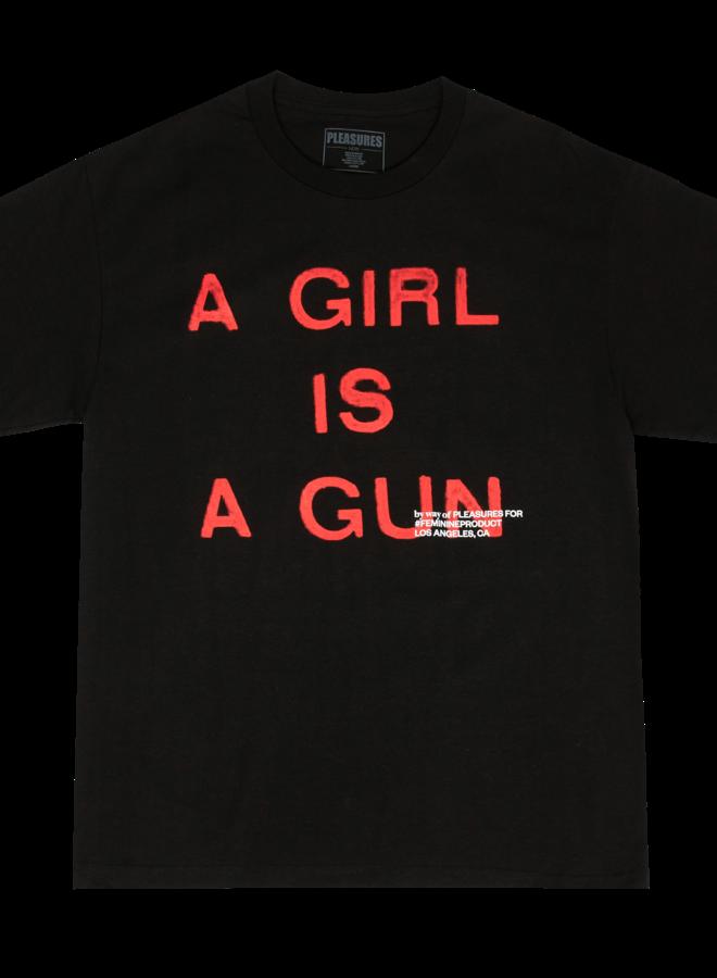 A GIRL IS A GUN TEE (BLACK)
