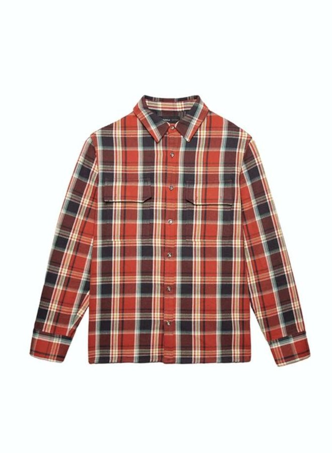 CANVAS PLAID RED