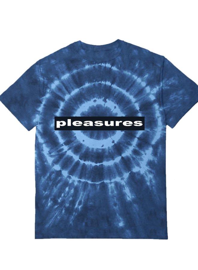 PLEASURES SURREALISM TYE DYE SHIRT BLUE