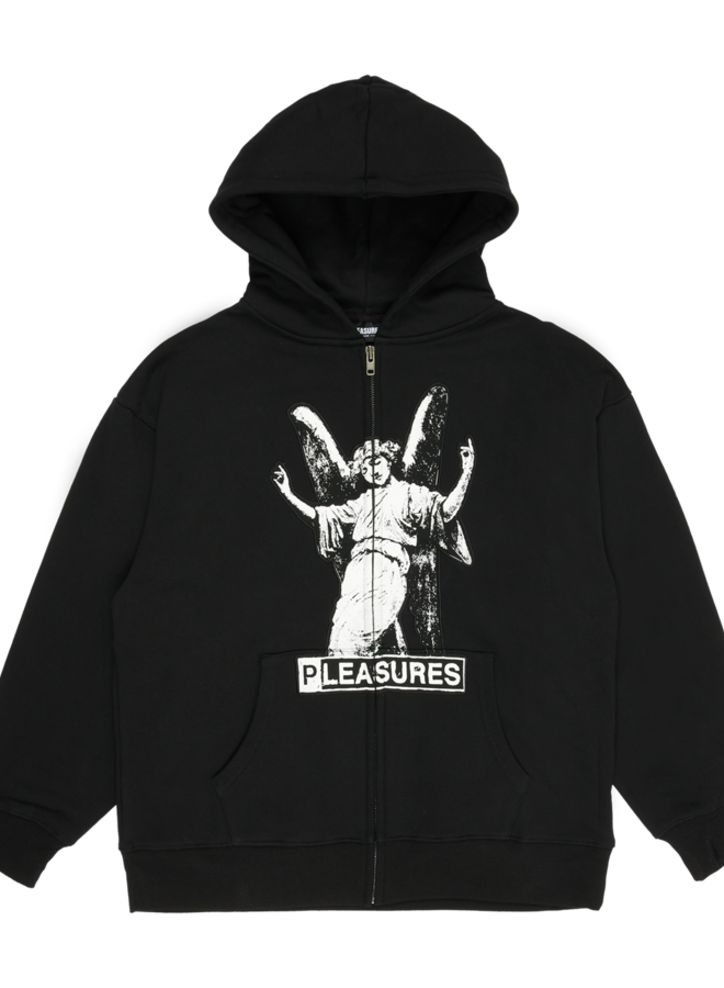 BLACK FETISH ZIP HOODY