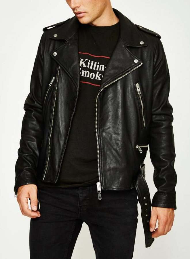 Ksubi Loathing Leather Jacket