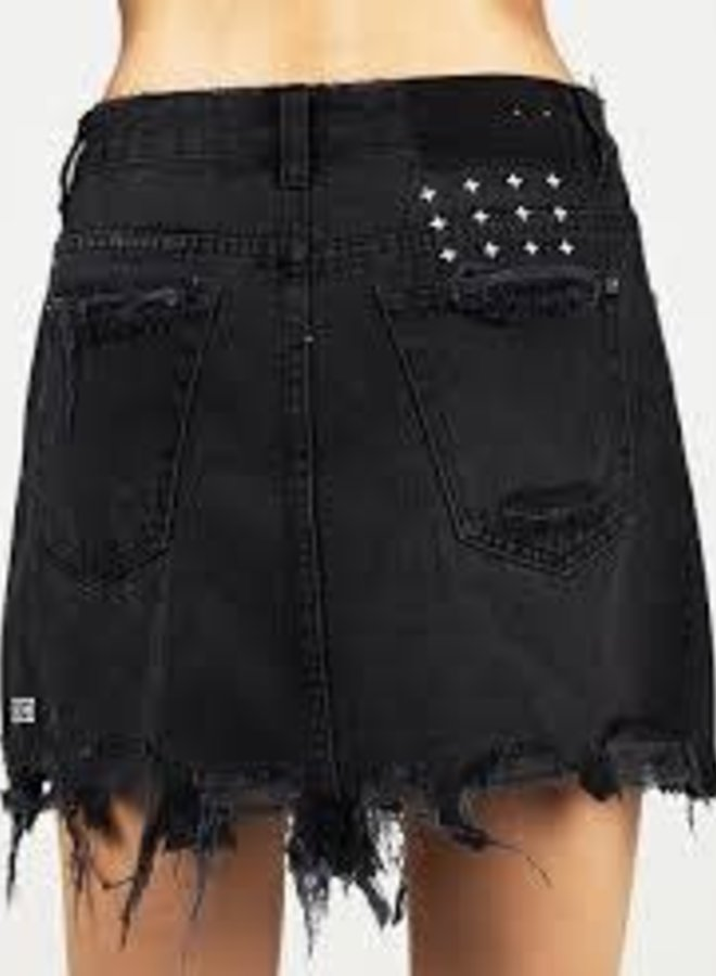 Ksubi Mini Moss Black Skirt