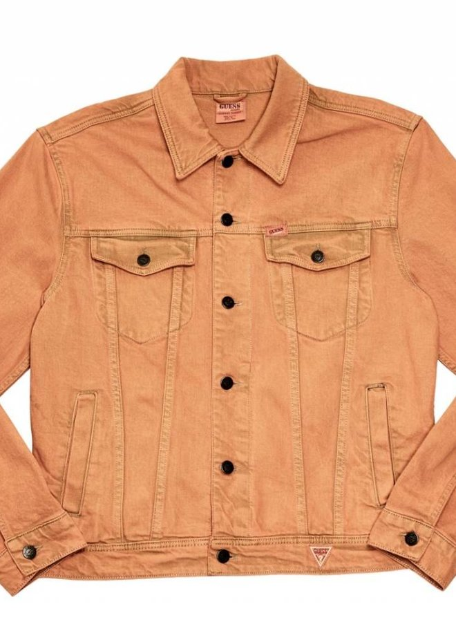 Guess Farmers Market Denim Jacket Orange Indigo