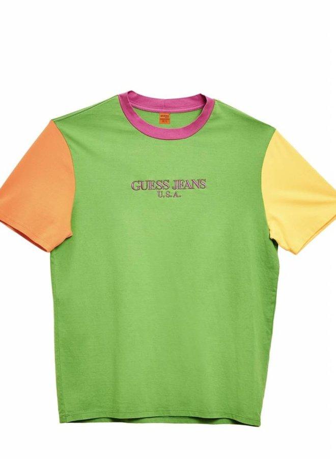 COLOR BLOCKED T-SHIRT GREEN APPLE