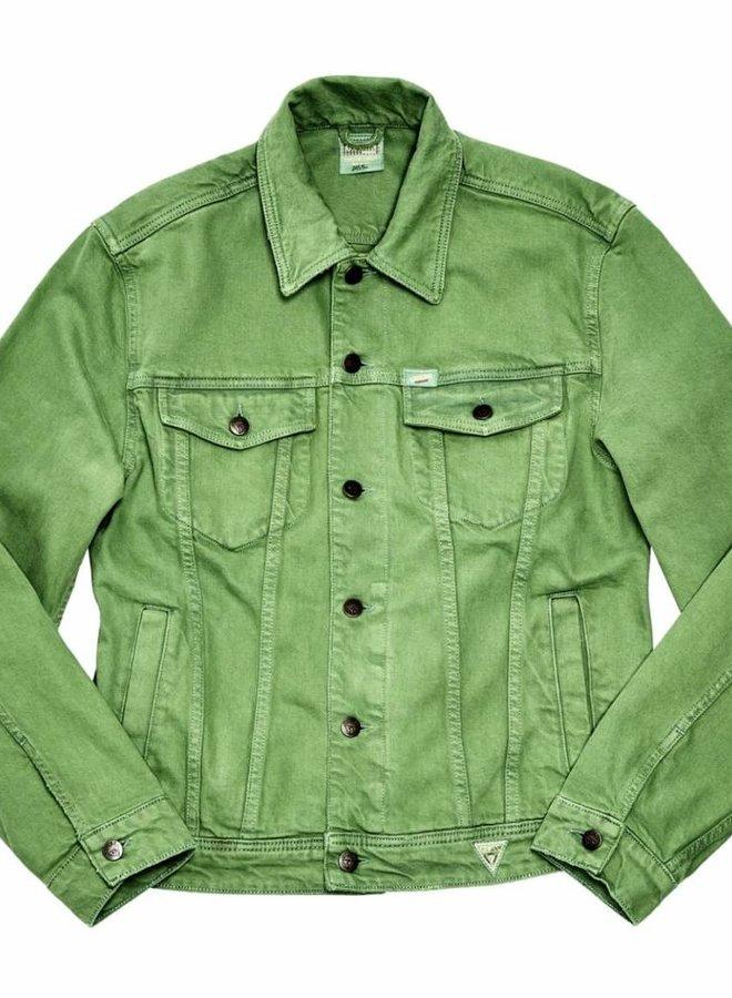 Guess Farmers Market Denim Jacket Green Indigo
