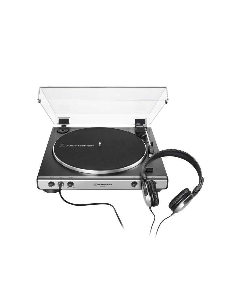 Audio Technica AT-LP60XHP-GM  Fully Automatic Belt-Drive Turntable with Headphones