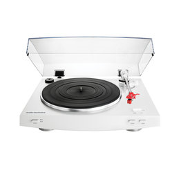 AT-LP3WH Audio Technica Fully Automatic Belt-Drive Turntable (White)