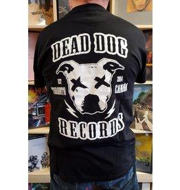 Dead Dog Records T-shirt 2019 - Crest Logo w/Biker Patch (Black) SM