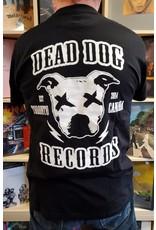 Dead Dog Records T-shirt 2019 - Crest Logo w/Biker Patch (Black) Med