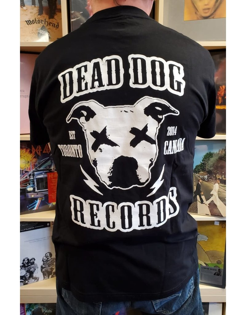 Dead Dog Records T-shirt 2019 - Crest Logo w/Biker Patch (Black) XL