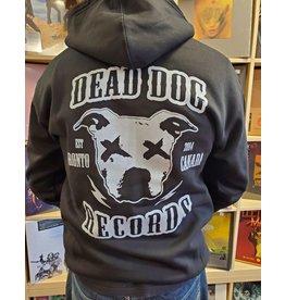Dead Dog Hoodie - Crest W/Biker (ZipUp) LG