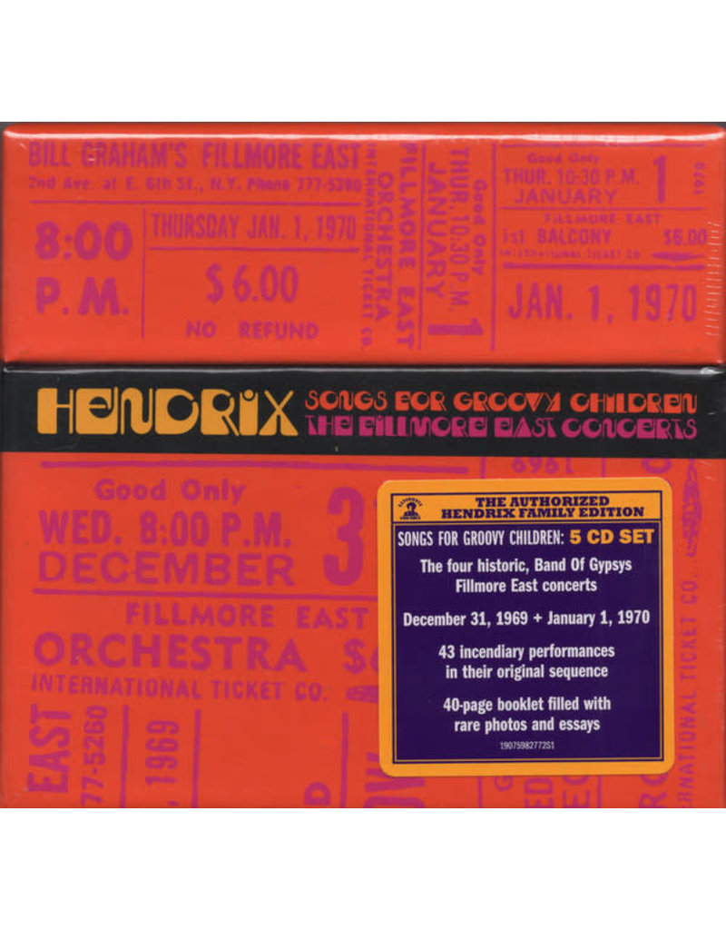 (CD)  Jimi Hendrix - Songs For Groovy Children (5CD) the Fillmore East Concerts