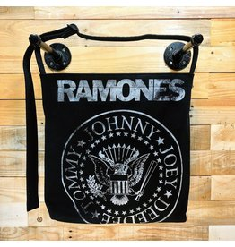 Goodfarken (Tee Bag) Ramones - Name + Presidential Stamp (White on Black)