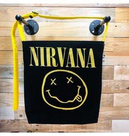 Goodfarken (Tee Bag) Nirvana - Classic Smile (Yellow 0n Black)