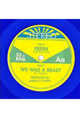 "Mt. Royal – Fresh b/w We Was A Beast  7"", 33 ⅓ RPM, Blue, Transparent"