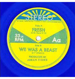 "Mt. Royal ‎– Fresh b/w We Was A Beast  7"", 33 ⅓ RPM, Blue, Transparent"