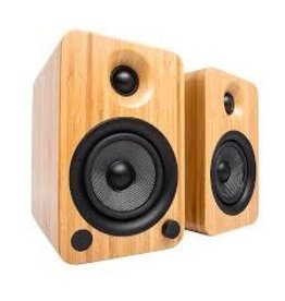 Kanto - YU4 Powered Speakers with Bluetooth & Phono Preamp (Bamboo)