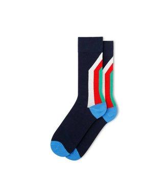 Fun Socks FM11GST2C-411 | FUN SOCKS GEO STRIPE - HOMME
