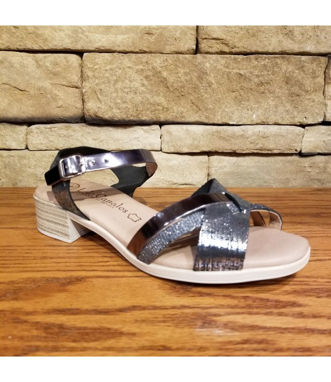 Lola Canales P3-18602 | LOLA CANALES SANDALES - PEWTER