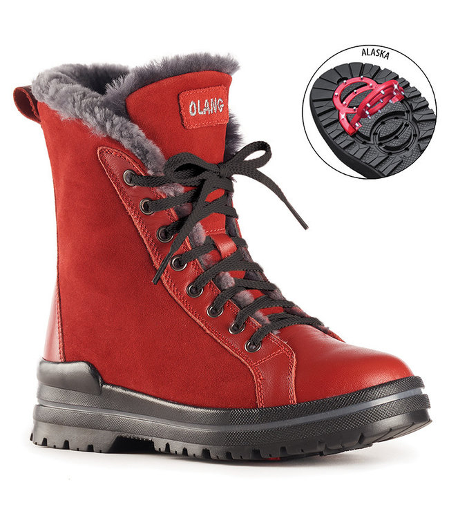 Olang ZAIDE | OLANG BOTTES CRAMPONS - ROUGE SUÈDE