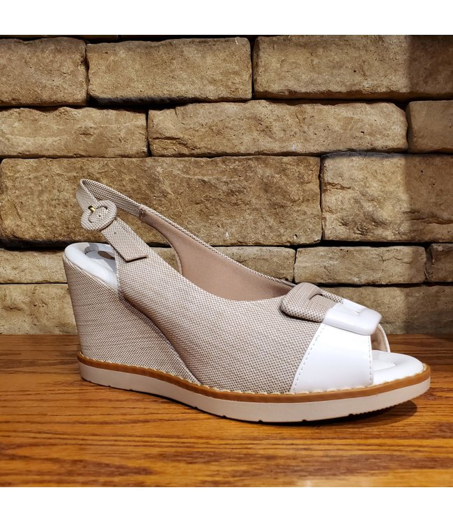 Piccadilly L1-428010 | PICCADILLY SANDALES - BEIGE/BLANC