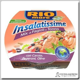 Rio Mare Rio Mare Tuna Insalatissime Tuna with Beans, Carots & Olives 5.6 Oz (160g)