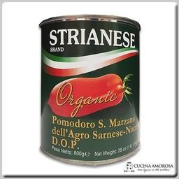 Strianese Strianese ORGANIC Italian San Marzano DOP Peeled Tomatoes w/Basil 28 Oz Tin