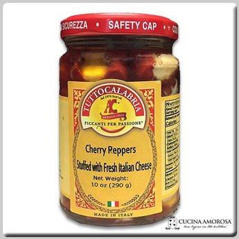 TuttoCalabria TuttoCalabria Cherry Peppers Stuffed with Italian Cheese 10.2 Oz (290g)